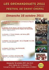 affiche orchandouets 2010 - chorale Oncle Celestin
